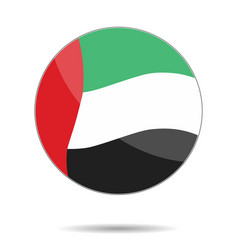 a united arab emirates flag flat icon eps10 vec vector image