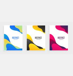 Abstract fluid shape modern banners set vector
