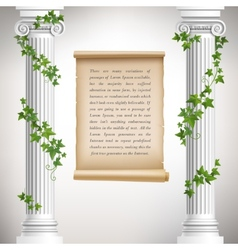 Antique columns poster vector