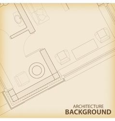 Architecture interior plan background vector