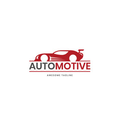 automotive super car logo design inspiration in vector image