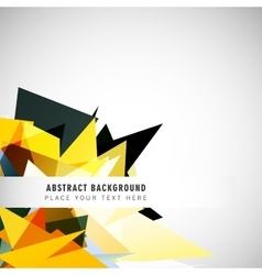 Background with polygons in the corner vector image