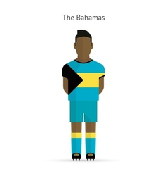 Bahamas football player Soccer uniform vector image