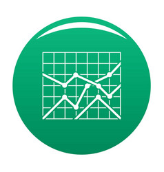 best chart icon green vector image