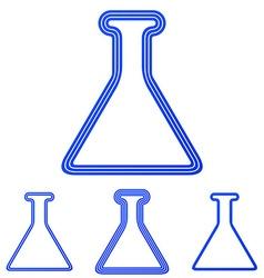 Blue line alchemy logo design set vector
