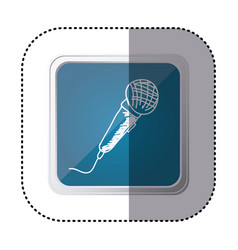 blue symbol microphone instrument icon vector image