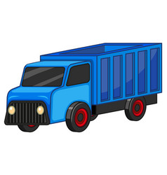 blue truck on white background vector image