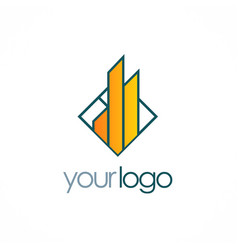 Building business logo vector