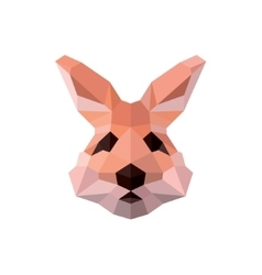 Bunny ears with nice character polygons head vector image