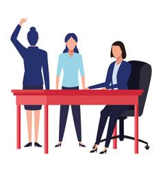 Business people avatars cartoon character vector
