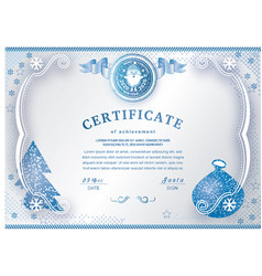 Christmas white certificate with santa claus vector