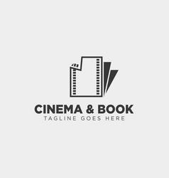 Cinema book simple logo template icon element vector