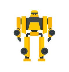 cinema robot transformer icon flat isolated vector image