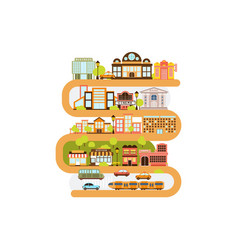 City infrastructure and all urban buildings vector