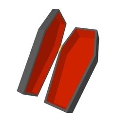 Coffin icon cartoon style vector image
