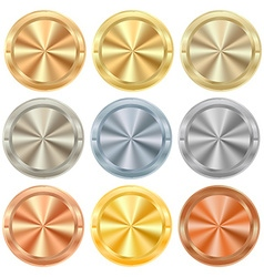 Collection of round knobs of different kinds of vector