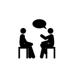 Conversation icon element of colleagues icon for vector