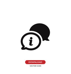 conversation speech bubbles icon vector image