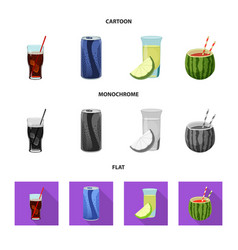 Design of drink and bar symbol set of vector
