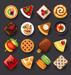 Dessert icon set-2 vector