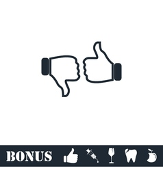 Dislike like icon flat vector