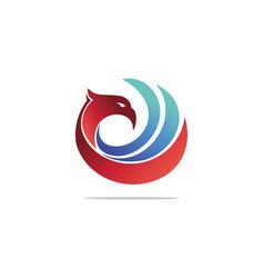 eagle head logo animal bird symbol hawk logo vector image