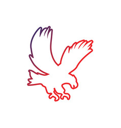 eagle icon design template isolated vector image