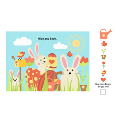 easter pages printable and worksheet vector image