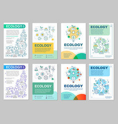 ecology brochure layout vector image