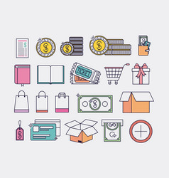 electronic commerce set icons vector image