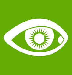 Eye icon green vector
