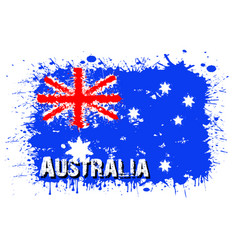 Flag australia from blots paint vector