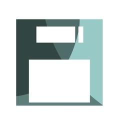 floppy disk retro isolated icon vector image