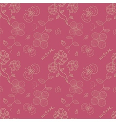 Floral stylized seamless pattern vector image