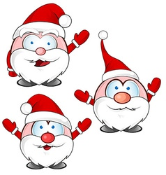 Funny santa claus cartoon vector