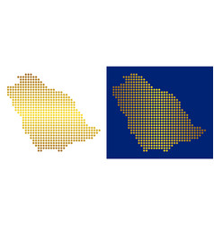 golden dotted saudi arabia map vector image