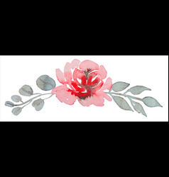 hand painting watercolor rose flower pattern vector image