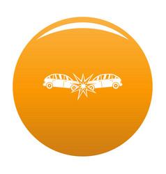 Head collision icon orange vector