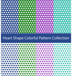 heart shape pattern collection vector image