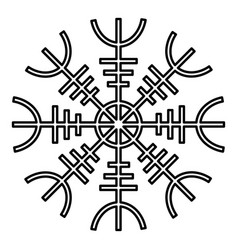 Helm of awe aegishjalmur or egishjalmur icon vector