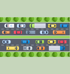 highway top view vector image