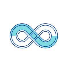 Infinity symbol design element in thickness style vector