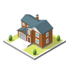 Isometric buildingt Flat style vector