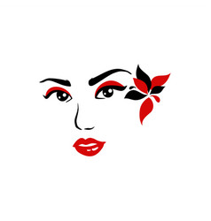 lady face vector image