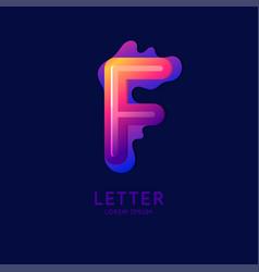 letter f latin alphabet display vector image