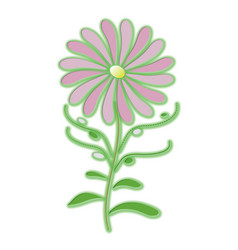 lilac flower vector image