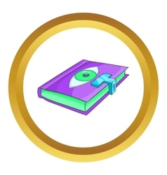 Magic book icon vector