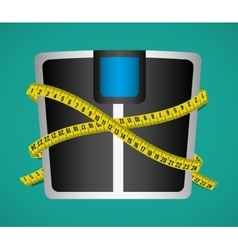 Measure tape and dieting vector