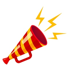 Megaphone yellow strip red isolated vector