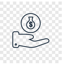 Money bag concept linear icon isolated on vector
